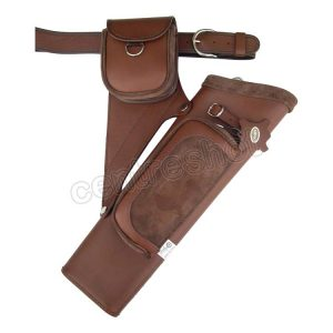 Gompy PT18 2 Pocket Leather/Suede Quiver