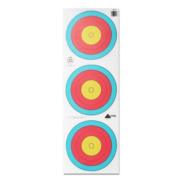 3 x 20cm FITA Target Face x 50