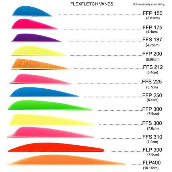 Flex-Fletch Vanes - Sizes