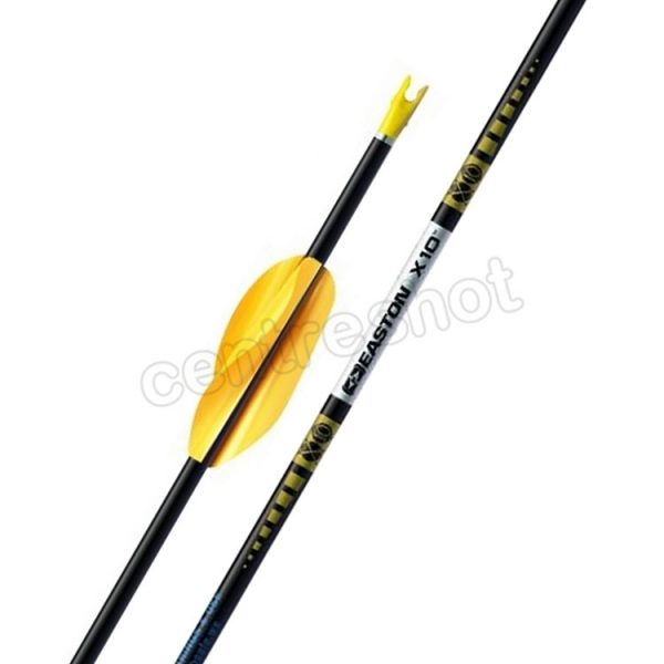 Easton X10 Arrows (with Spin Wings) x 12